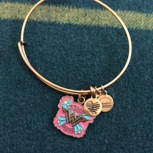Alex and Ani gold peace and love  bracelet